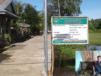 Jalan lingkungan Desa Suka Raja Kedurang selesai dibangun tahun 2018