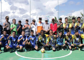 Pertandingan Futsal Desa Batu Kuning Pasar Manna
