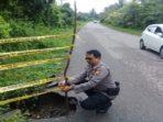 Jalan Hotmix Klutum-Simpang Pino milik Provinsi yang rusak