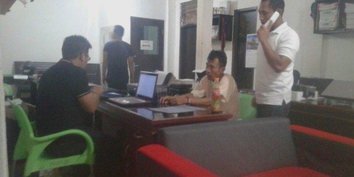 Pelaku saat dimintai keterangannya oleh penyidik kepolisian