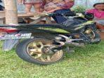 Sepeda motor yang ditumpangi korban