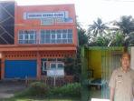 Gedung Serba Guna Desa Mela'o dan Kades Asmin Dali
