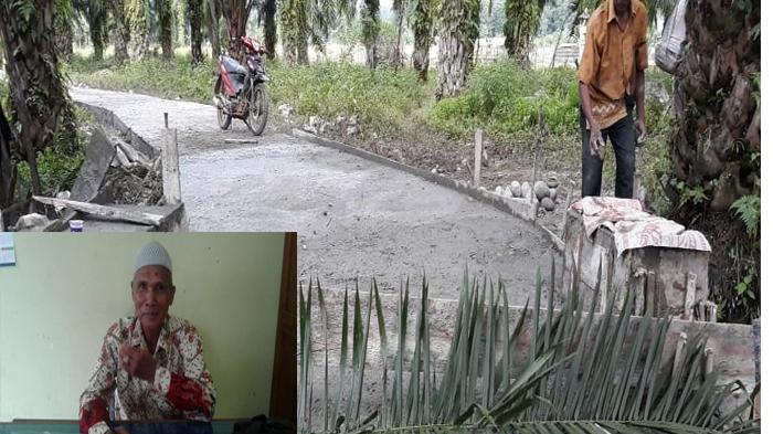 Jalan lingkar desa Limus se;esai dibangun