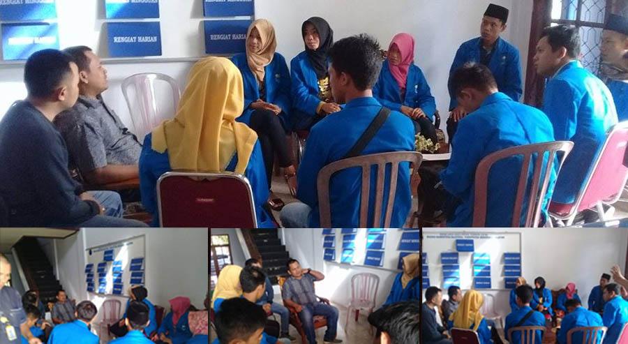 Pengurus PMII saat audensi dengan BNNK Bengkulu selatan