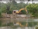 Pelabuhan mini yang di bangun PT JS di Sungai Air Pino