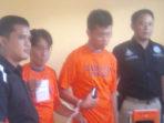 Tersangka Shabu, Warga Kaur Saat Diamankan di Kantor Polisi