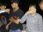4 pemuda saat ditangkap di TKP